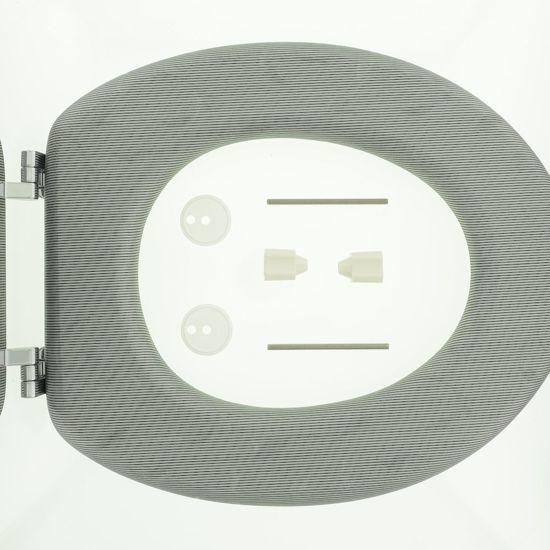 Tiger Toiletbril Glitter MDF grijs 251361146
