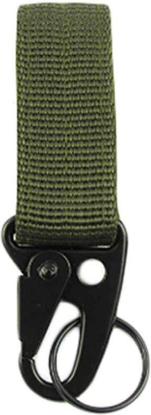 Groene rugtas / riem karabijnhaak met sleutelring - NBH®
