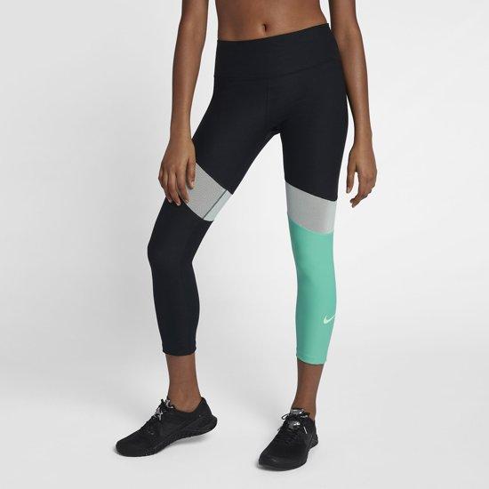 53e015a9926 bol.com | Nike Power Cropped Tipoly Pant Sportbroek Dames - Zwart/Groen