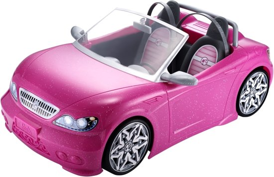 barbie glam cabrio barbie auto mattel speelgoed