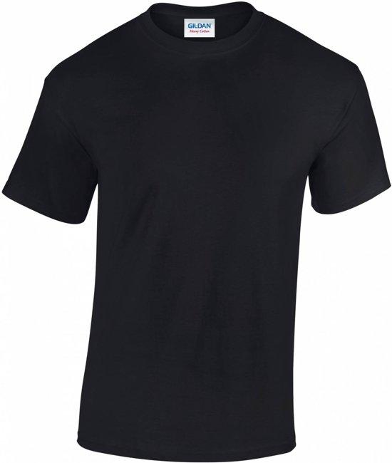 Gildan Heavy Cotton T-shirt 180 GSM, Kleur Zwart, Maat S (6 Stuks)