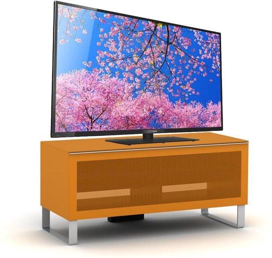 Exclusieve Tv Kast.Bol Com Elmob Exclusive Small Tv Meubel Oranje Hout Metaal Glas