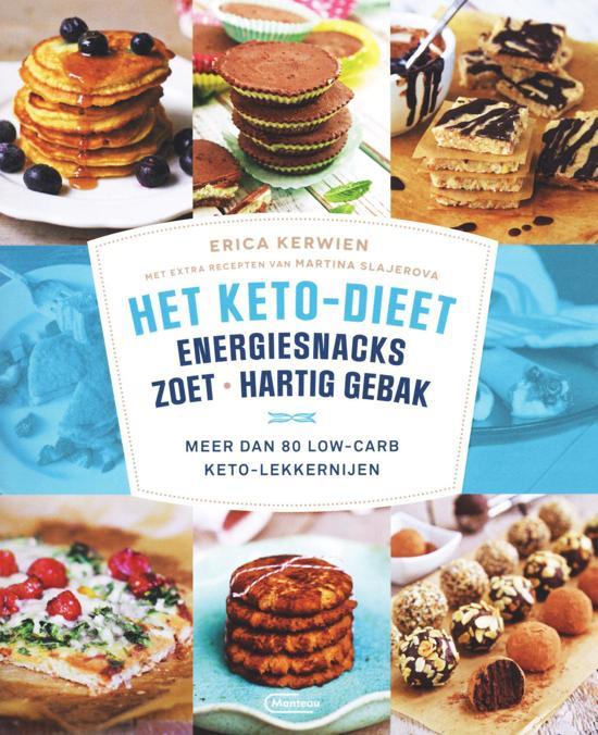 Boek cover Het keto-dieet: energiesnacks, zoet en hartig gebak van Erica Kerwien (Paperback)