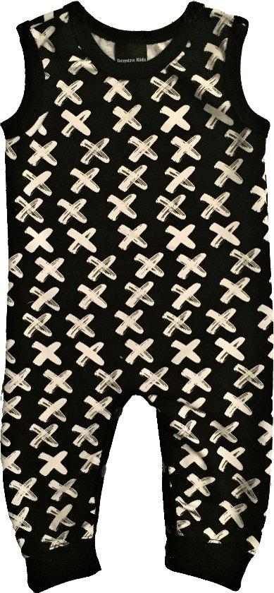 Damara Kids Jumpsuit zwart met witte kruisjes