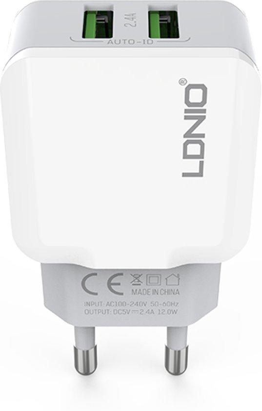 Oplaad Stekker met 2 USB Poorten - 2.4A
