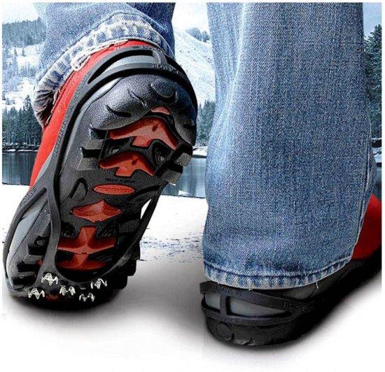 Sneeuw Spike sneeuwijzers anti-slip voor schoenen - Maat 34-39 - 1 paar