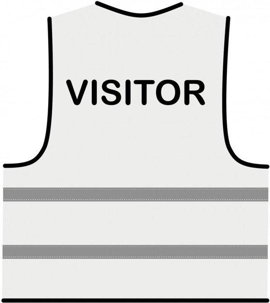 Veiligheidshesje wit 'Visitor'