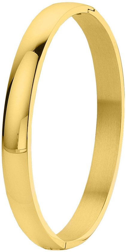 ce3d43b56fe bol.com | Lucardi - Stalen armband bangle goldplated