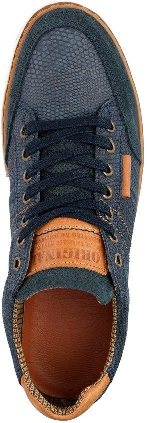 Blauw 43 B fullerSportieve Maat Nogrz Leren Herensneaker SMVpUzq