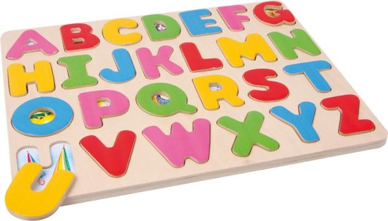 Afbeelding van het spel Houtenpuzzel - 'Letters'