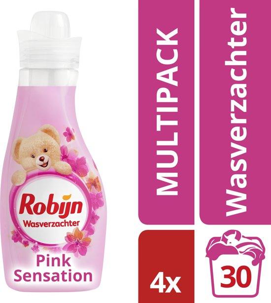 Robijn Vloeibaar Summer Pink - 750 ml - Wasverzachter - 4 stuks - voordeelverpakking