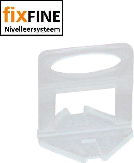 Fixfine Tegel Levelling Systeem Clips 1 mm. 100 stuks