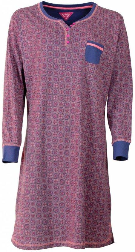66754dddf28 Irresistible Dames Nachthemd Slaapkleed Blauw IRNGD2501B Maten: XL