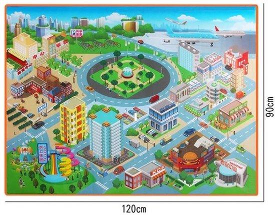Speelmat / Speelkleed / Verkeerskleed Discover your City - 90 x 120 cm