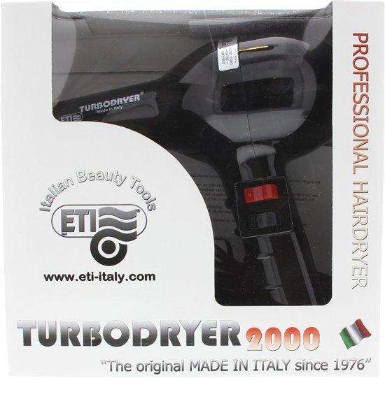 Wahl ETI Turbo -Professionele Föhn - Kappersföhn- Zwart