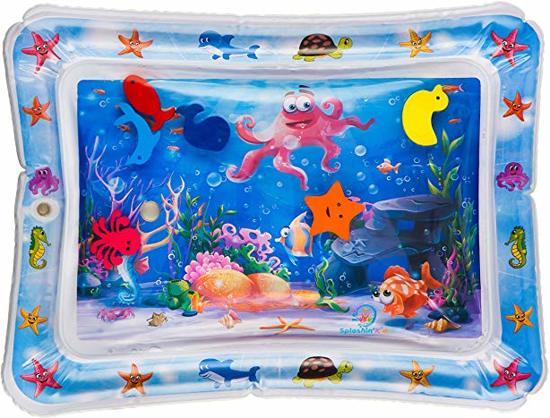 Afbeelding van Baby Waterspeelmat DELUXE – Spelen met water – Opblaasbare Speelmat & Speelkleed baby – Aquamat en Watermat – Babytraining – Kraamcadeau jongen/ meisje - Babyshower cadeau - Waterspeelgoed buiten speelgoed