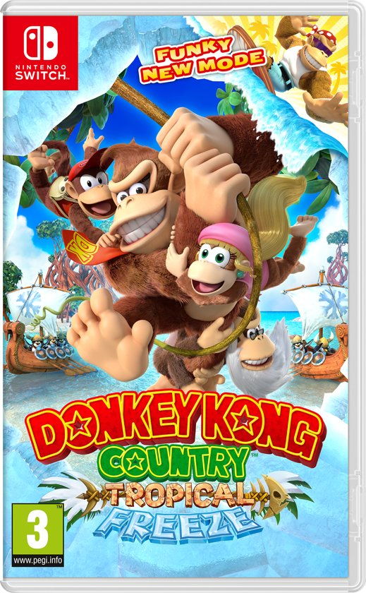 Image result for Donkey Kong Country: Tropical Freeze cover switch""