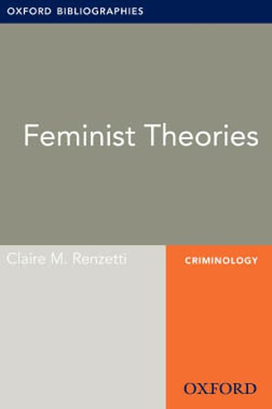 Feminist Theories: Oxford Bibliographies Online Research Guide