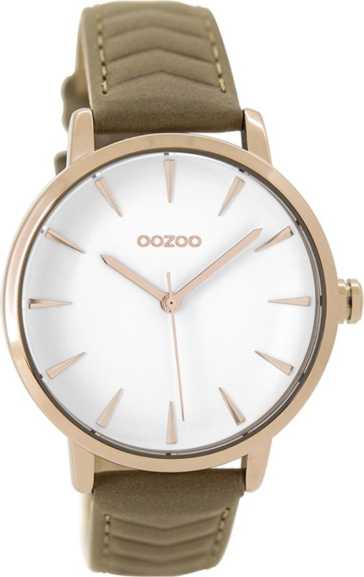 OOZOO Timepieces C9508 Rosé Taupe Wit 40mm