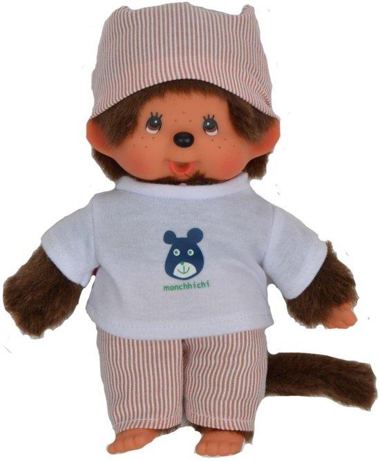 Monchichi Jongen Met Pyjama Wit