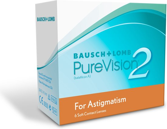 +5,00 PureVision 2 HD for Astigmatism (cil -2,25 as 180) - 6 pack - Maandlenzen - Contactlenzen in Zonnemaire