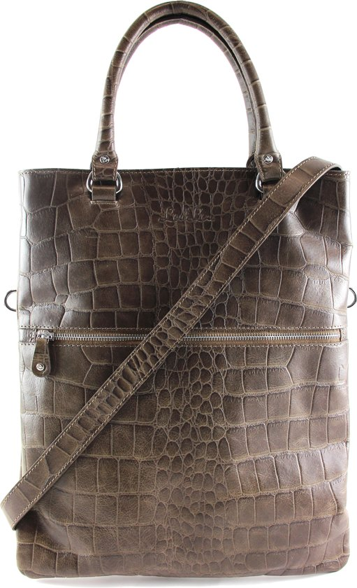 Vintage handtassen taupe Croco Essentiels Loulou bag PukZXi