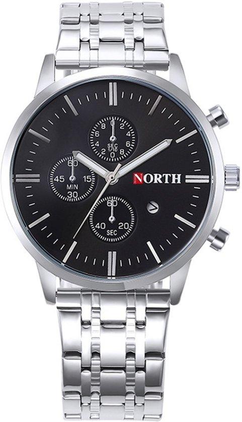 North Heren Horloge Kast Chroom Band Chroom 43mm Productvideo