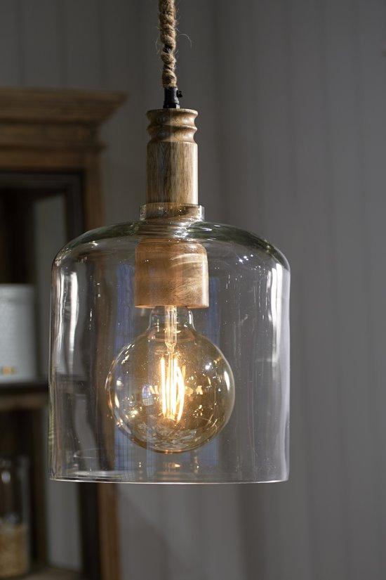 Riviera Maison Pamplona Hanging Lamp - Hanglamp - Glas-