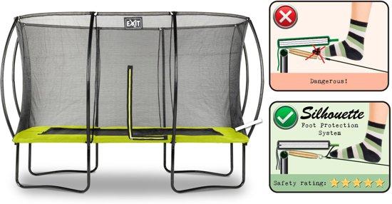 EXIT Silhouette trampoline 244x366cm - groen