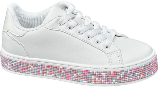 Graceland Kinderen Witte sneaker symbolen Maat 33