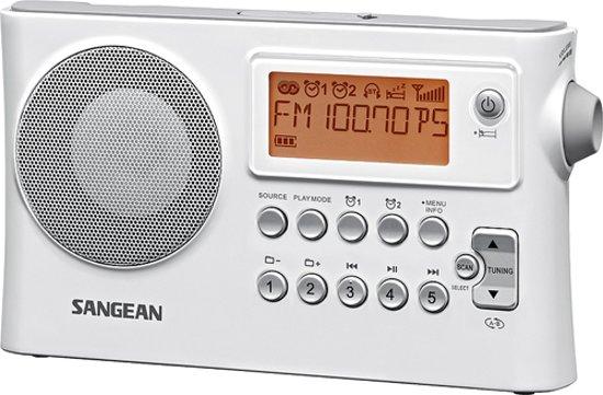Sangean PR-D14 - Draagbare radio met USB - Wit
