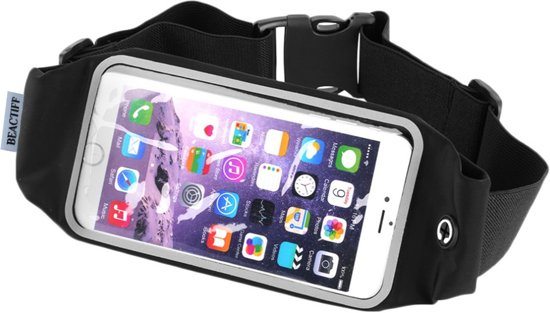 Sport heupband (L) sportband voor Smartphones, goed verstelbare riem, o.a. sporten met de iPhone X, 6s plus/6 plus/7 plus/7s plus/8 plus, Galaxy S5 neo/S5 plus/S6/S6 edge/S6 edge plus/S7/S7/S8/S9 edge