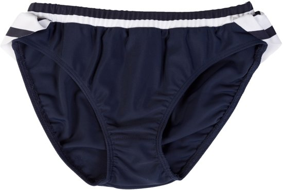 Petit Crabe UV werend Bikinibroekje Meisjes Gestreept - Donkerblauw/Wit - Maat 140-146