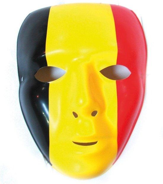 België Masker - Zwart/Geel/Rood