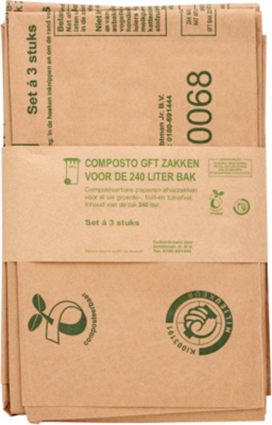 Composto GFT 240L containerzak set à 30 stuks