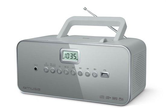 Muse M-28 LG - Draagbare Radio/CD-speler - grijs