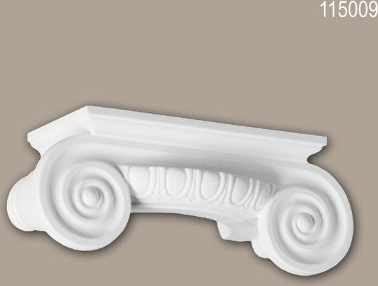 Halve zuilen kapiteel 115009 Profhome Zuil Sierelement Ionische stijl wit