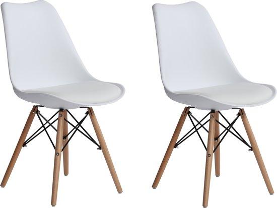 Eames Stoel Kussen : Bol witte kuipstoelen mét zitkussen