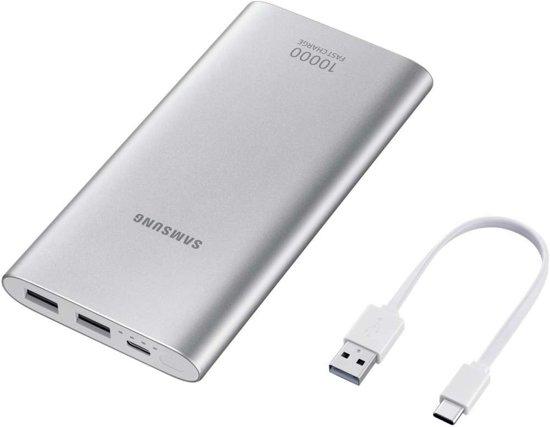 Samsung Powerbank 10.000mAh 2x USB en 1x USB-C - Snellader - Silver