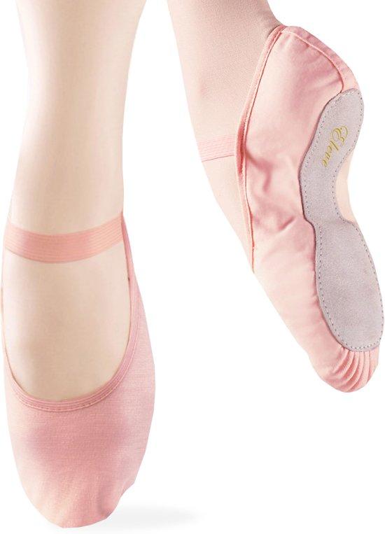 Balletschoenen roze ELEVE meisjes | Hele zool | Elastisch canvas | Voor kinderen | Maat 27