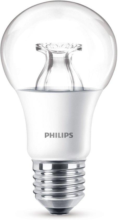 Philips LED lamp E27 dimbaar 9W (60W) warmwit 806lm helder