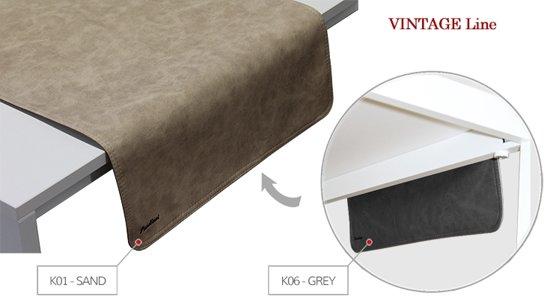 Pavelinni tafelloper Vintage Sand/Grey 45x120cm