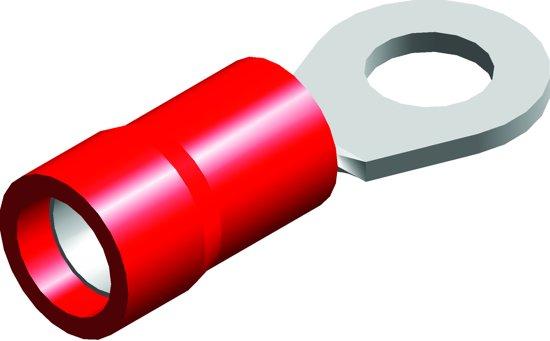 Quparts Ringkabelschoen EZ-entry - PVC geïsoleerd (Rood) - Draaddikte 0.5-1.5 mm² - ringdiameter 8.4 mm - 100 st.