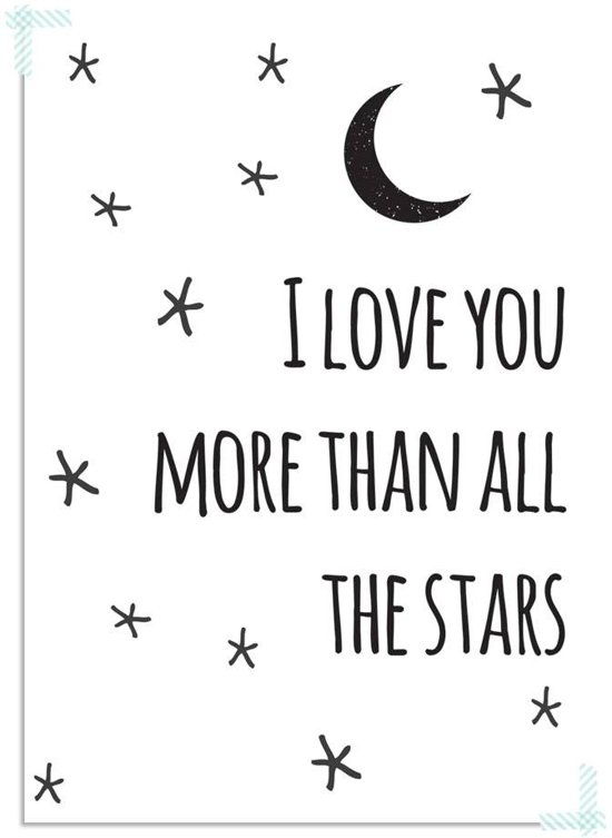 Bolcom Kinderkamer Poster I Love You More Than All The Stars