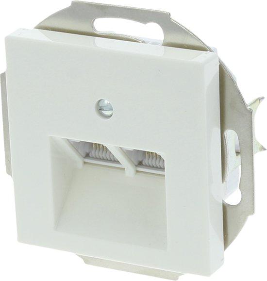 Jung AS500 Telefoon/Data Wandcontactdoos - Inbouw - Cat3 - 2 x 8-polig - Polarwit