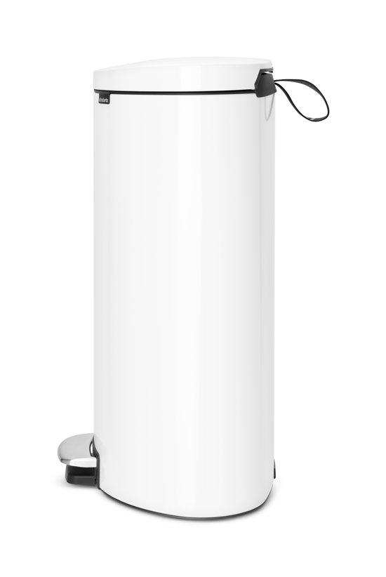 Brabantia Pedaalemmer FlatBack 40 Liter Wit