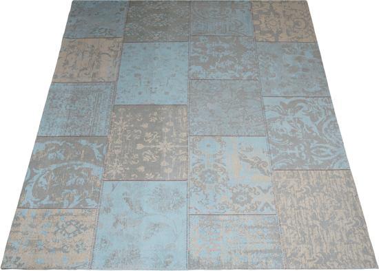 Karpet Vintage Patchwork.Karpet Patchwork Turquoise Vc 160x240 Cm Vintage Vloerkleed