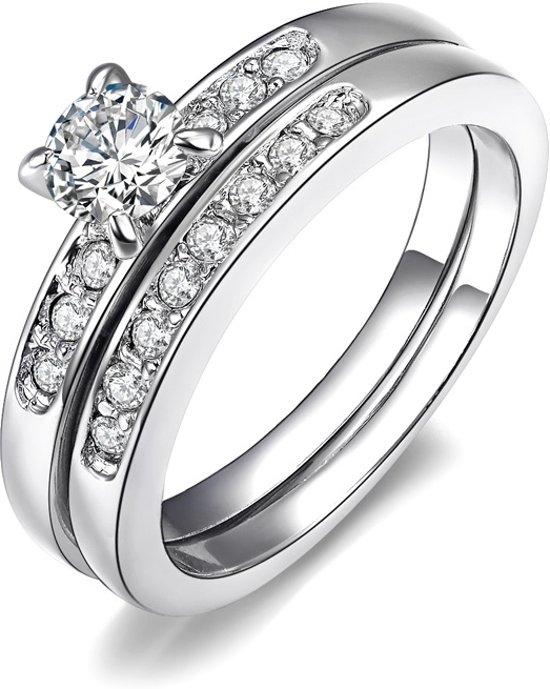 Fate Jewellery RIng FJ158 - Deluxe Ring - 18mm - Zilver met Zirkonia kristallen