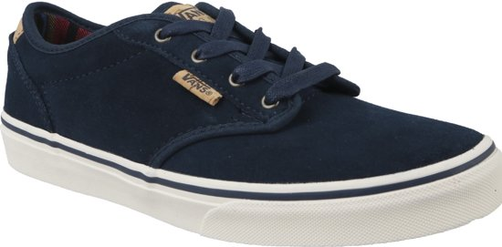 vans atwood deluxe heren sneakers blauw