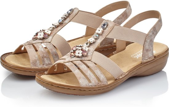 Rose Golden Sandalen Rieker